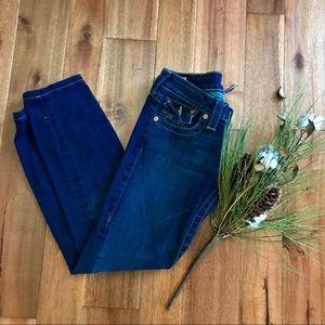 True Religion straight leg jeans size 26 in EUC